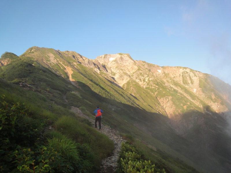 小屋から見る五竜岳