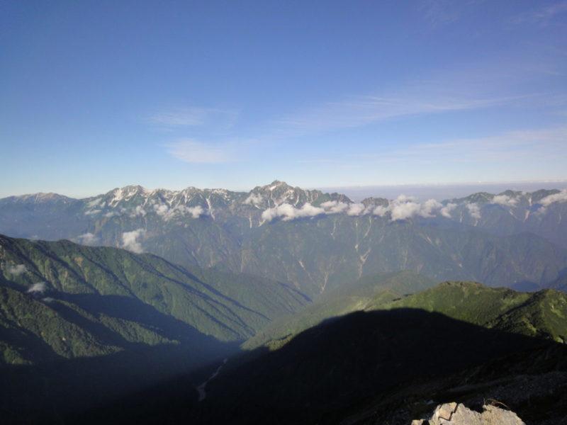 五竜岳山頂からの剣岳・立山
