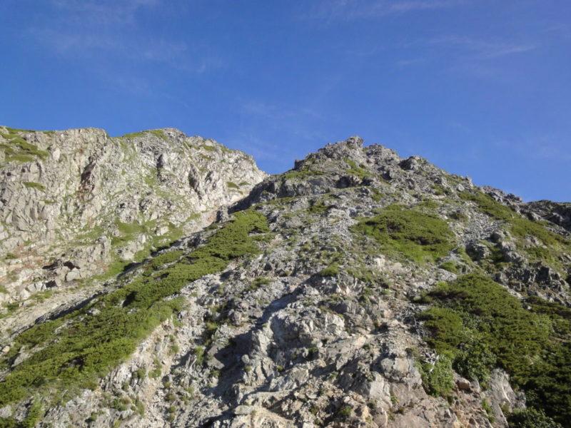 五竜岳からの下り