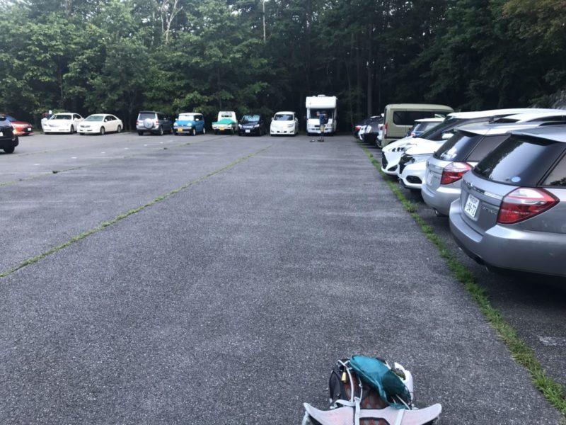 土曜日の駐車場