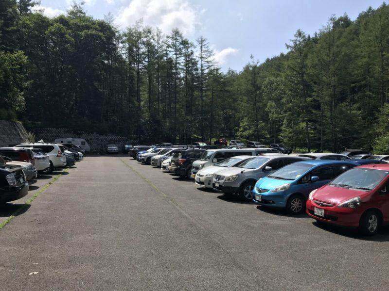 日曜の駐車場
