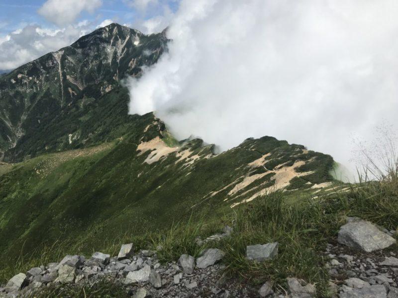 白岳から唐松方面