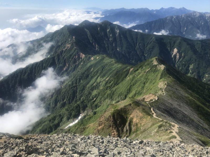 鹿島槍南峰から爺が岳