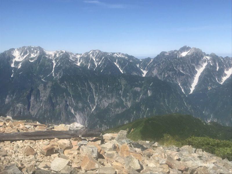 鹿島槍の剱岳・立山