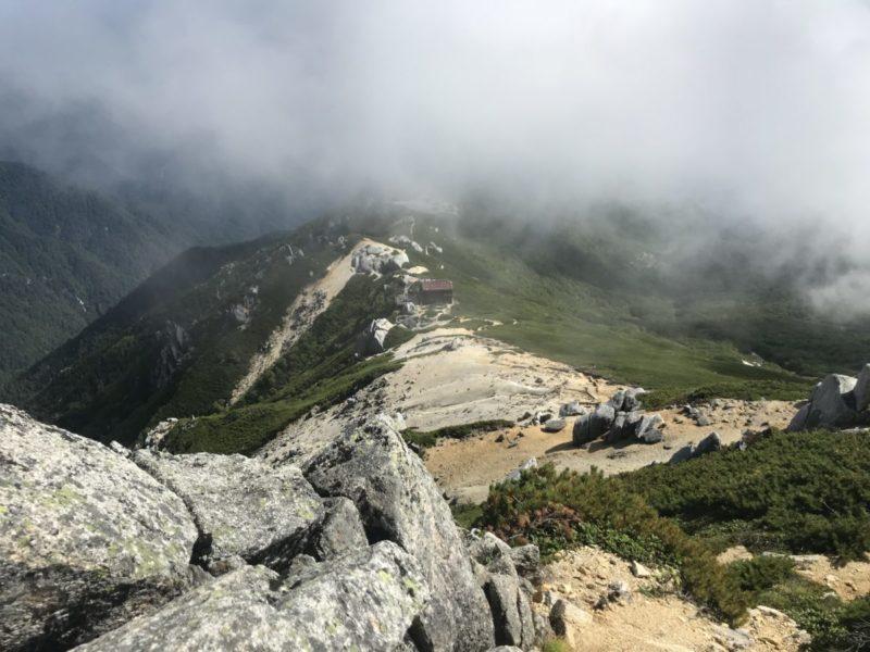 空木岳から駒峰ヒュッテ