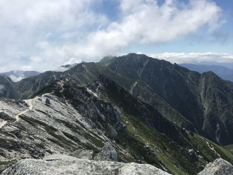 空木岳からの南駒ヶ岳