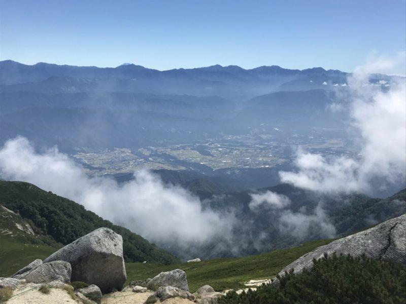 空木岳から南アルプス方面