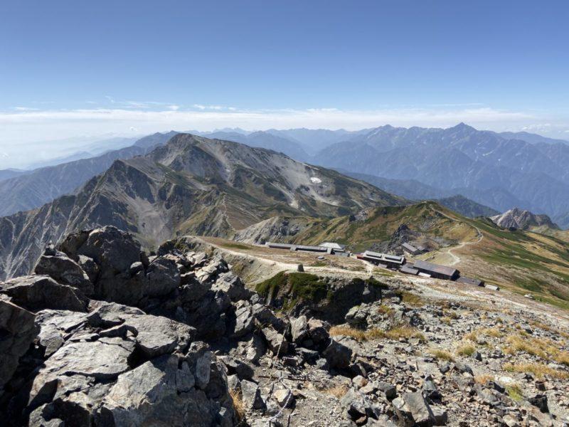 白馬山頂から南側