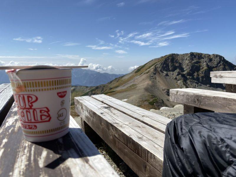 旭岳とカップヌードル