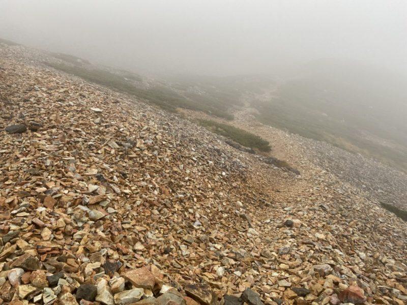 杓子岳への登り道
