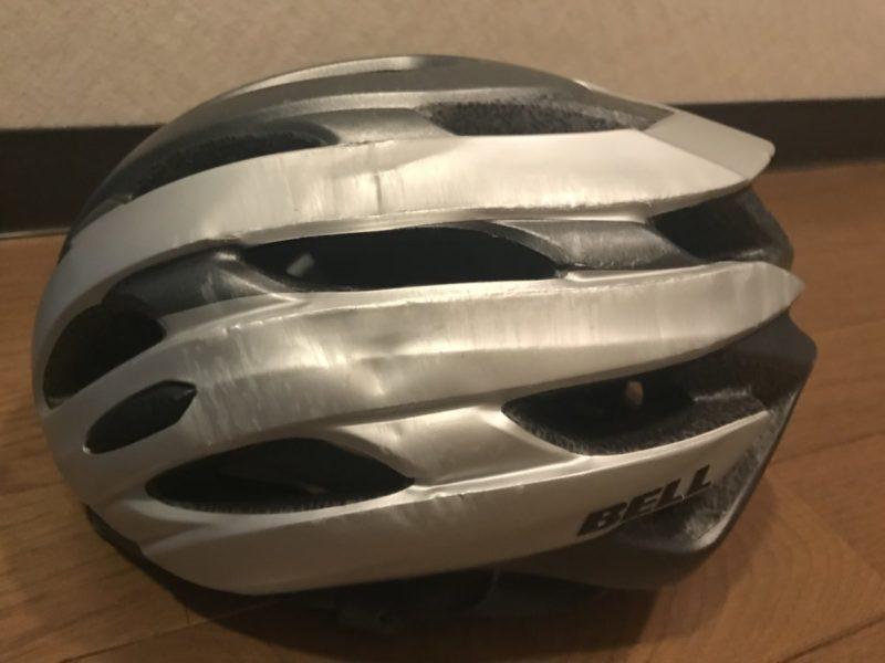 凹んだヘルメット